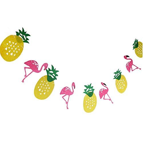 Flamingo Bunting Banner Hawaii-Ananas-Party-Tropische Party-Foto-Prop Geburtstag Garlands Dekorationen Partybedarf Filz-Partei-Dekoration
