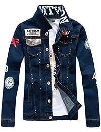 Herren Jeans-Jacke Destroyed Zerissene Denim Jacke Vintage Look A2B-7080 NEU