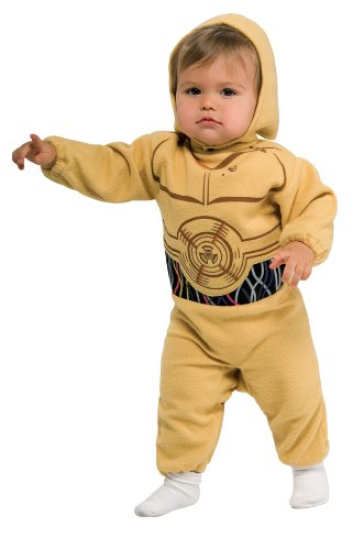 Star Wars C3po Kostüm (C-3PO Babystrampler aus Star Wars,)