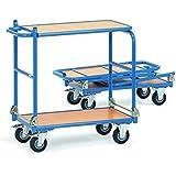 fetra Tischwagen KW 4, 2 Etagen, klappbare Tischplattform
