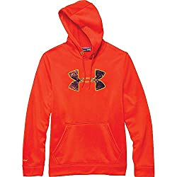 Under Armour Rival Baumwolle Hoodie Größe L Dark Orange Cabana