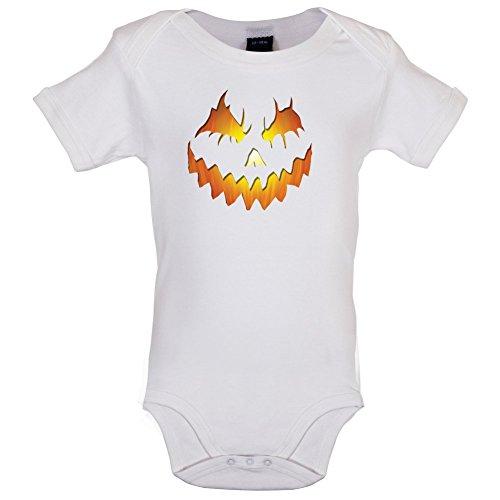 Halloween Pumpkin Face - Lustiger Baby-Body - Weiß - 0 bis 3 Monate (0 Bis 3 Monate Halloween Kostüme)