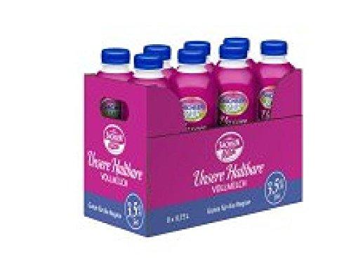Preisvergleich Produktbild H-Milch 0,75 Liter 3,5% Fett 8 Flaschen