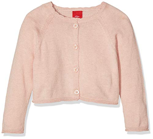 s.Oliver Baby-Mädchen 59.811.64.8699 Strickjacke, Rosa (Light Rose 4058), 68 -