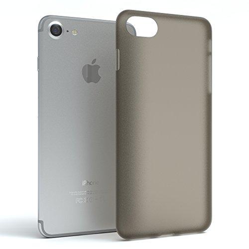 """EAZY CASE Handyhülle für Apple iPhone 8, iPhone 7 Hülle - Premium Handy Schutzhülle Slimcover """"Clear"""" - Transparentes Silikon Backcover in in Klar / Durchsichtig Matt Schwarz / Anthrazit"""
