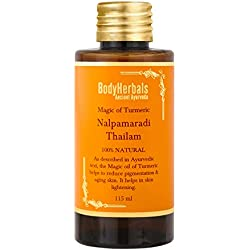 BodyHerbals Nalpamaradi Thailam, Ayurveda 100% Natural Face & Body Oil, Magic Of Turmeric to Reduce Pigmentation & Aging Skin. Helps In Skin Lightening. Beauty, Skin Care (115 ml)