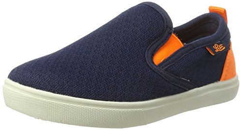 Lico Jungen Fun Slipper, Blau (Marine/Orange), 36 EU