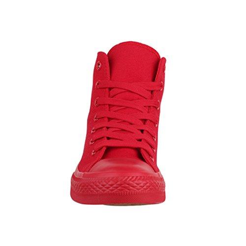 Elara Sneaker Donna Rot Une Couleur