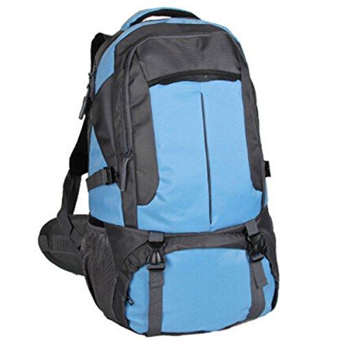 Zaino Esterno Di Alpinismo Uomini E Donne Bag Borsa A Tracolla Viaggio Walking Impermeabile Zaino Da Viaggio,Red Blue