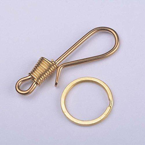 QJONKE Messing Schlüsselbund Handgemacht Taille hängende Schnalle , x1 (Aus Herz Messing Pferd)