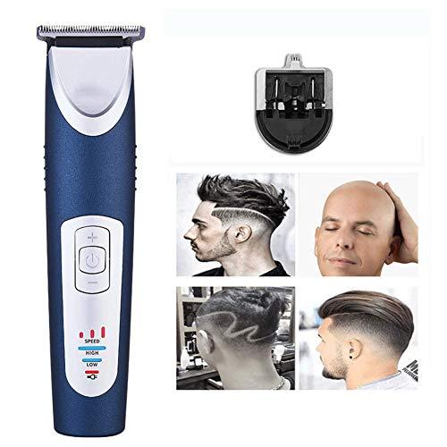 Hair Clippers Tagliacapelli a Batteria Elettrico Professionale per Capelli Set Ricaricabile USB Wireless T-Blade Kit per Barba con 4 pettini Guida per Uomo Bambini Fauay,Blu