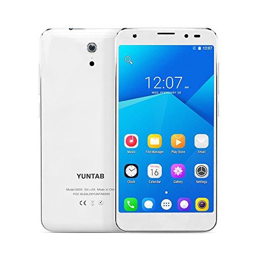Yuntab S505 4G-LTE Smartphone Android 6.0 5 Zoll HD Screen Dual SIM Smartphone 2GB+16GB interner Speicher dual Kamera GPS, WiFi, Spiele- Weiß