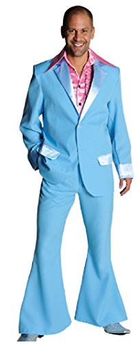 M207201-13-XL hellblau Herren Disco Anzug-Kostüm Gr.XL=60