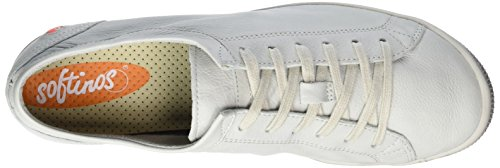Softinos Damen Isla Smooth Sneaker Weiß (White)