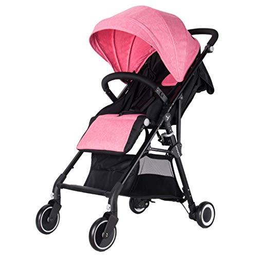 ZLMI Kinderwagen Ultra Light und High Landscape Folding Baby kann Liegender Kinderwagen Geeignet für 0-3 Jahre alt bb Auto sitzen,C