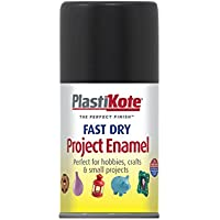 Plastikote 101S - Pittura a smalto ad asciugatura rapida, finitura lucida, 100 ml, colore: Nero