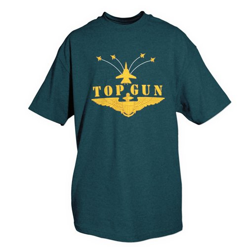 Fox Outdoor Produkte Air Force einseitig bedruckt T-Shirt, unisex, Top Gun / Navy (Fox Navy T-shirt)