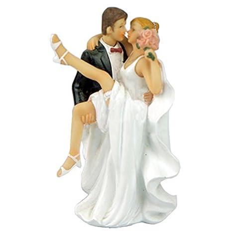 Lanlan Romantische Topper Kuchen Figur Bräutigam Braut Hochzeit Dekoration 7,5* 6* 13,5cm (Wilton Kuchen Tin)