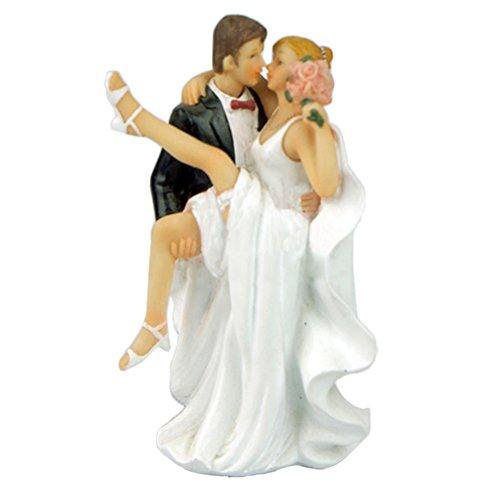 Lanlan Romantische Topper Kuchen Figur Bräutigam Braut Hochzeit Dekoration 7,5* 6* (Wedding Princess Disney Dress Belle)