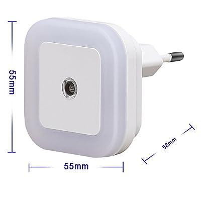 [Warmweiß] SOAIY® 4er-Set LED Nachtlicht 0,5W energiesparend Steckdosenlicht Orientierungslicht mit Dämmerungssensor Warmweiß automatisch Leuchte für Schlafzimmer Kinderzimmer Flur von SOAIY