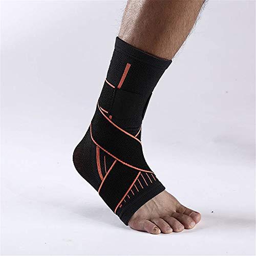 OOFAYWFD Einstellbare Ankle Sleeve Atmungsaktive Dual Compression Elastische Knöchelorthese Fersenschutz (1PCS) -
