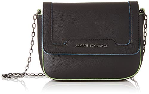 ARMANI EXCHANGE Crossbody Bag Colorful - Borse a spalla Donna, Nero (Black), 15x6.5x20 cm (B x H T)