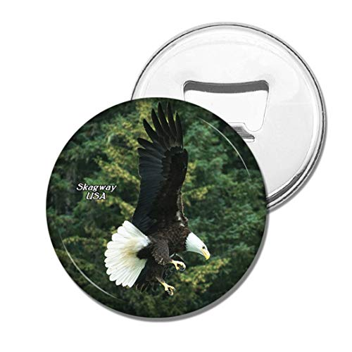 Weekino USA Amerika Weißkopfseeadler Skagway Alaska Bier Flaschenöffner Kühlschrank Magnet Metall Souvenir Reise Gift -