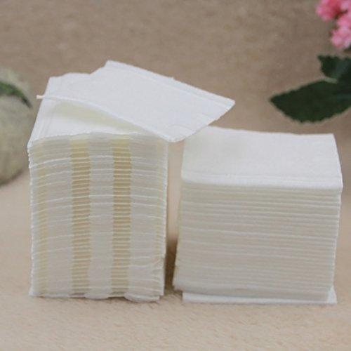 Asentechuk® 160 pcs/Box jetables doux visage de coton Démaquillant Nettoyant Coton, blanc, 6 x 6.5cm