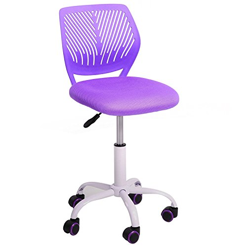 Aingoo silla de escritorio para niños Silla para niños Silla giratoria para niños Silla giratoria para niños Silla ergonómica ajustable en altura para niñas Niños Youth Resilient 100KG púrpura