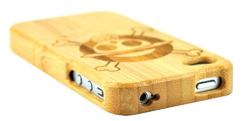SunSmart Handmade Unikat Holz Hülle Bambus Schutzhülle für iPhone 4 4S (one piece) one piece