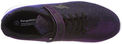 KangaROOS Unisex-Erwachsene Kangashine EV Sneaker Schwarz (Jet Black/Dk Navy)