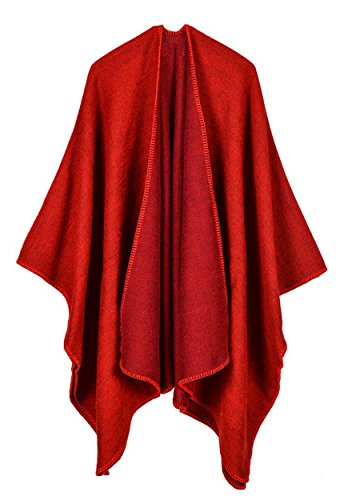 FOURSTEEDS - Poncho -  donna Red