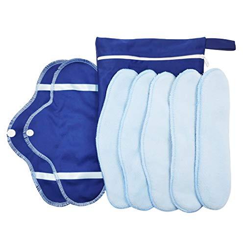 Kapmore Chiffon hygiénique lavable et réutilisable pour le tampon hygiénique lavable et réutilisable 5pcs