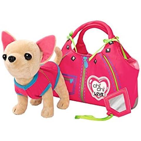 Chi Chi Love - Zipper, peluche con bolso, multicolor (Simba 5890617)