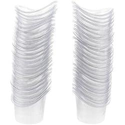 100 pcs Copa Desechable para Lavado de Ojos de Plástico de 5ml Belleza cuidado