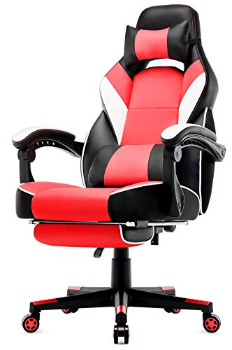 Intimate WM Heart Chaise de Bureau Gaming en Similicuir, Fauteuil Racing Inclinable, Siège Ergonomique Pivotant, Dossier Haut
