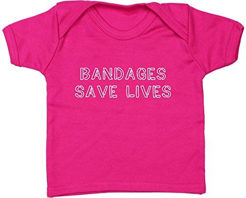 HippoWarehouse Bandages Save Lives Camiseta Unisex bebé Manga Corta