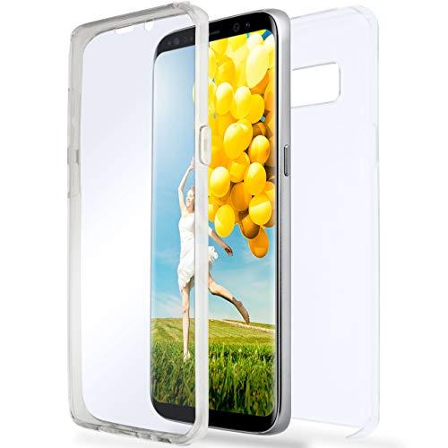 ONEFLOW Samsung Galaxy S8 Plus   Hülle Silikon Transparent 360 Grad Touch Cover Dünne Schutzhülle Clear Handyhülle für Samsung Galaxy S8+ Plus Case Ultra-Slim Silikonhülle TPU