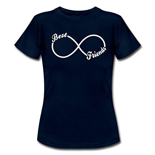 *Best Friends Forever Frauen T-Shirt von Spreadshirt®, S, Navy*
