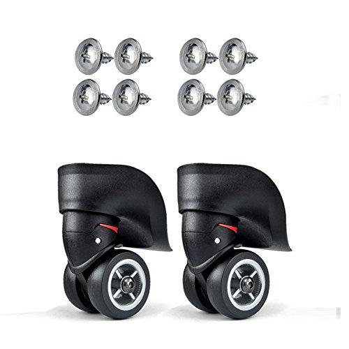 Rueda de repuesto Vanyda para maleta de equipaje, color negro, diámetro externo de 49mm, incluye kit de reparación de tornillos