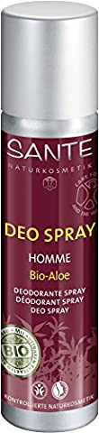 SANTE - Homme Deospray Bio-Aloe - Milde Formulierung - Holzig-würzige Nuancen - Vegan & glutenfrei - Langanhaltende Frische - 100 ml
