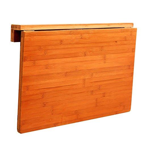 Zfggd Massivholz Klapp Esstisch, Waschküche Küchentisch kleine Wand montiert Laubholz Schreibtisch (Size : 80 * 55cm) - Klapp-esstisch