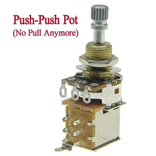 KAISH Gitarren-Bass-Potentiometer mit Messingschaft USA/Imperial (kein Ziehen) A250K USA/Imperial Brass Shaft