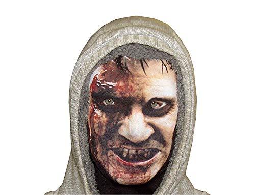 L&S PRINTS FOAM DESIGNS Angry Halloween Zombie Neuheit Fun Stoff Gesicht Maske Design Snood Gesichtsmaske hergestellt in Yorkshire