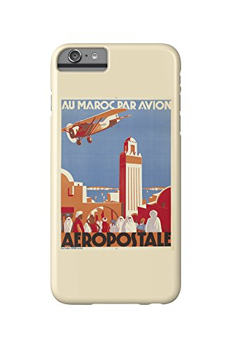 Aeropostale - Au Maroc Par Avion Vintage Poster (artist: Jacquelin, Jean) France c. 1930 (iPhone 6 Plus Cell Phone Case, Slim Barely There) (Jeans Aeropostale)