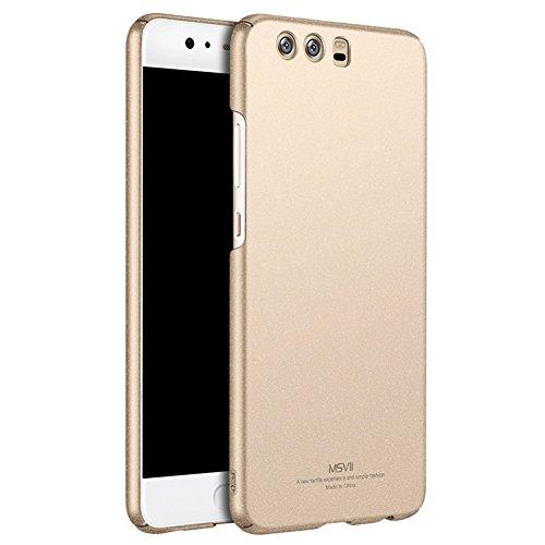 Huawei P10 5,1 Zoll Hülle, MSVII® PC Kunststoff Härte Hülle Schutzhülle Case Und Displayschutzfolie für Huawei P10 5,1 Zoll - Rose Gold JY30037 Gold