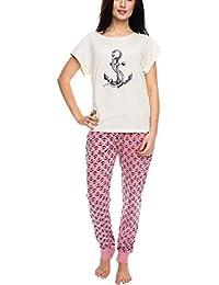 1b2004f7f0 Rossli SAL-PY 1061 Women s Pyjama Set Patterned t-Shirt Long Pants Smooth  Sailor
