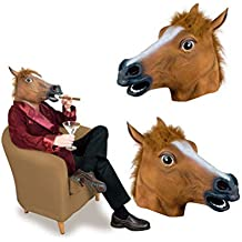 YEMOCILE Máscara de Animales para Disfraz de Halloween, Fiesta de látex, Cabeza de Caballo