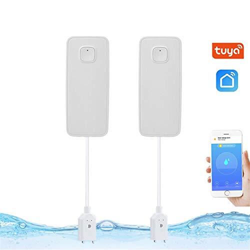 HealthyBear Alarma De Fuga De Agua Control De Aplicación Móvil Uso Independiente Detector De Protección contra Desbordamiento De Aplicación Gratuita para Enrutadores Wi-Fi De 2.4G Hz