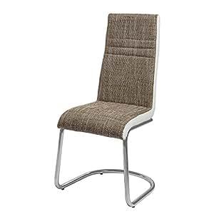 mooved Chaise cantilever Fenja (lot de 4) - Marron / Blanc